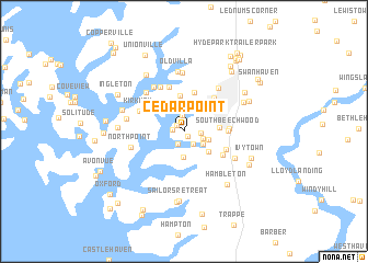 Cedar Point United States USA Map Nonanet - Us map of maryland