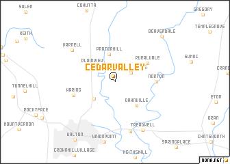 map of Cedar Valley