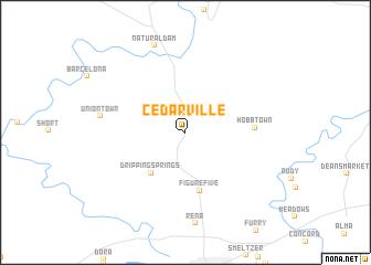 map of Cedarville
