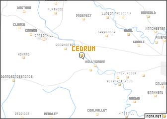 map of Cedrum
