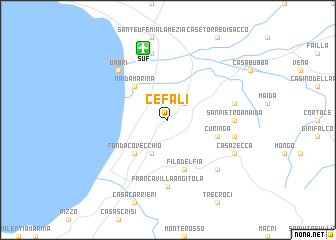 map of Cefalì