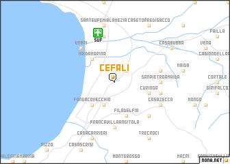 map of Cefalì