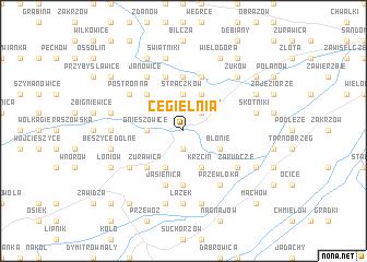 map of Cegielnia