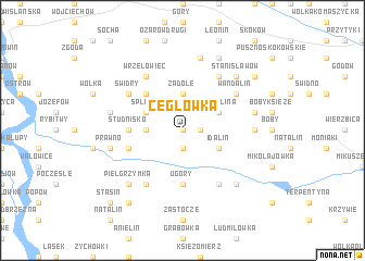 map of Cegłowka