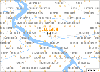 map of Celejów