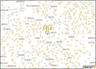 map of Cele