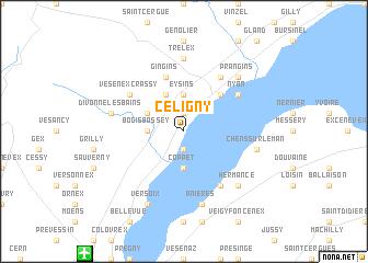 map of Céligny