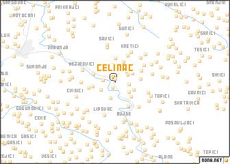 map of Čelinac
