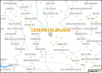 map of Čemernica Lonjska
