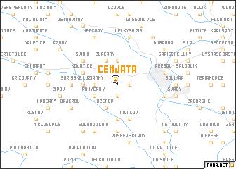 map of Cemjata