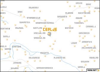 map of Čeplje