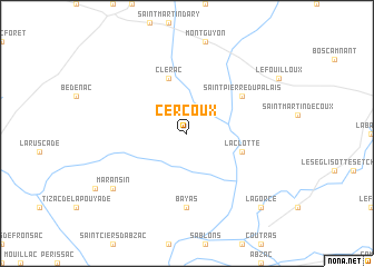 map of Cercoux