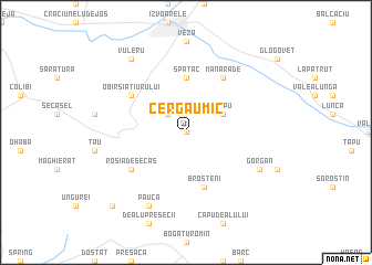 map of Cergău Mic