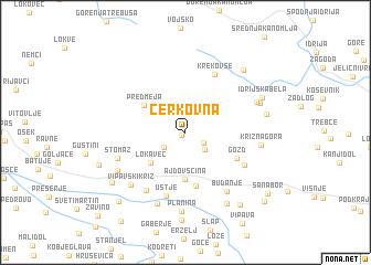 map of Cerkovna