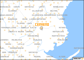 map of Cermeño