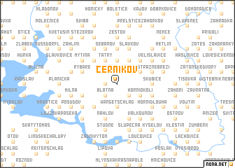 map of Černíkov