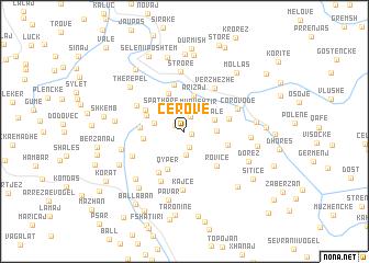 map of Cerovë