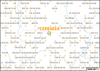 map of Cerquedo