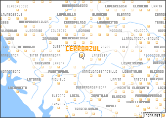 map of Cerro Azul