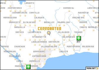 map of Cerro Batea