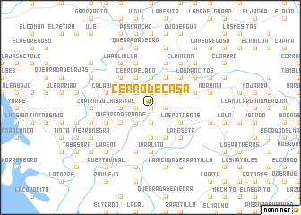 map of Cerro de Casa