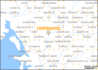 map of Cerro de Miel