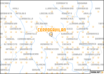 map of Cerro Gavilán