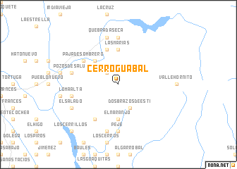 map of Cerro Guabal