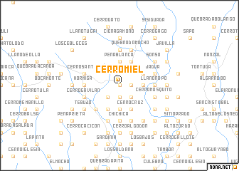 map of Cerro Miel