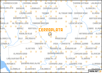 map of Cerro Plata