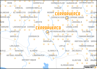 map of Cerro Puerco
