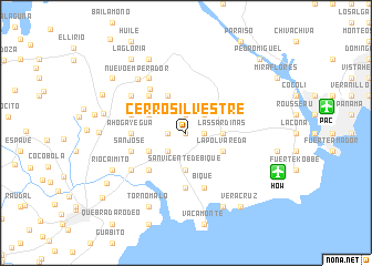 map of Cerro Silvestre