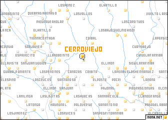 map of Cerro Viejo