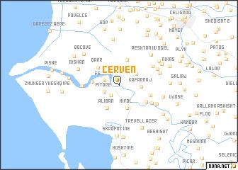 map of Çerven