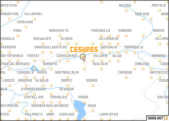 map of Cesures