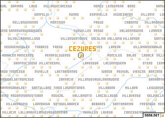 map of Cezures
