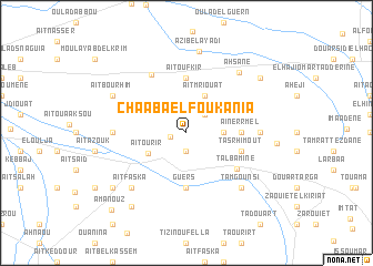 map of Chaaba el Foukania