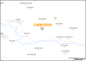 map of Chabyrovo
