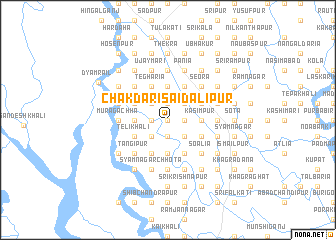 map of Chakdari Saidālipur