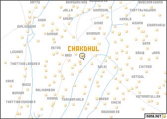 map of Chak Dhul