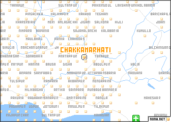 map of Chak Kāmārhāti