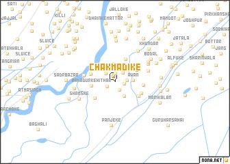map of Chak Mādīke