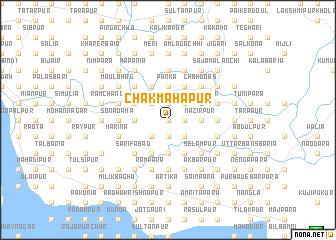 map of Chak Mahāpur
