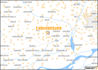 map of Chak Mansūra