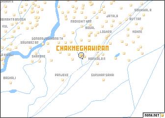 map of Chak Megha Wīrān