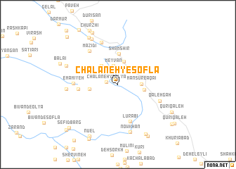 map of Chalāneh-ye Soflá