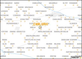 map of Chałupki