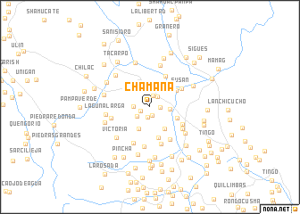 map of Chamana