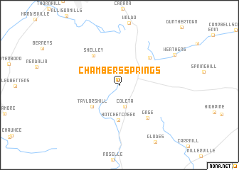 map of Chambers Springs