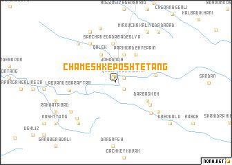 map of Chameshk-e Posht-e Tang